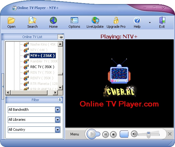 online tv player 4.9.6.0