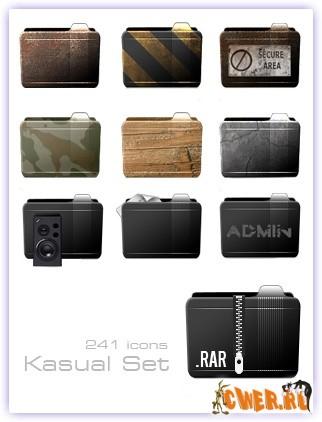 ...351 Комментариев: 0. 241 иконка в ICO&PNG формате.  Kasual Set.