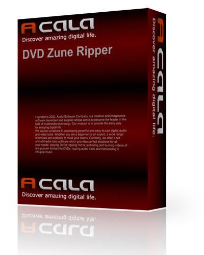 Acala DVD Zune Ripper 4.0.6