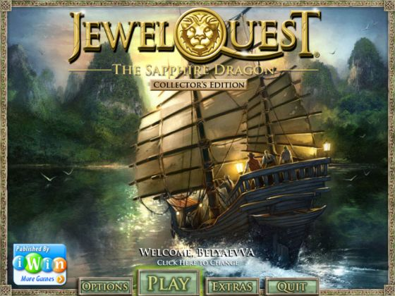 Jewel Quest. The Sapphire Dragon. Collector's Edition (2011)