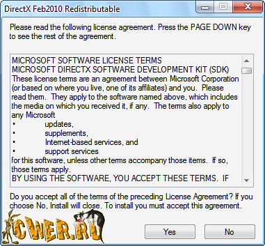 DirectX End-User Runtimes 9.0c (February 2010)