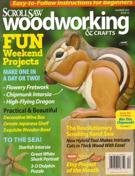 ScrollSaw Woodworking & Crafts №75 (Summer 2019)