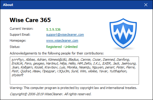 Wise Care 365 Pro 5.3.9 Build 536 + Portable