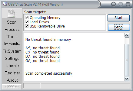 USB Virus Scan 2.44