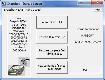 Drive SnapShot 1.46.0.18205 + Portable