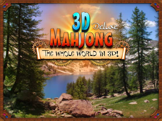 скриншот игры 3D Mahjong Deluxe: The Whole World in 3D!