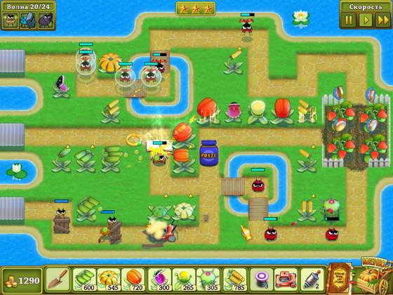 скриншот игры Защитники сада