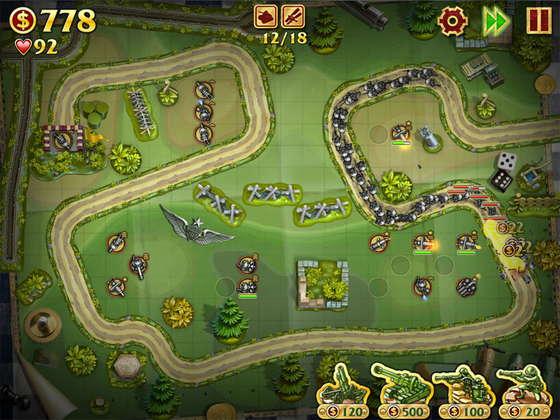 скриншот игры Солдатики