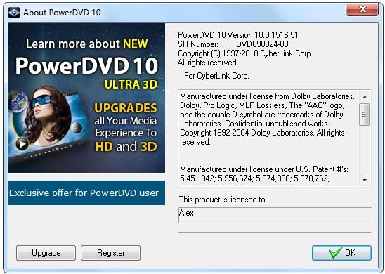 CyberLink PowerDVD 10 Build 1516 Ultra + RePack