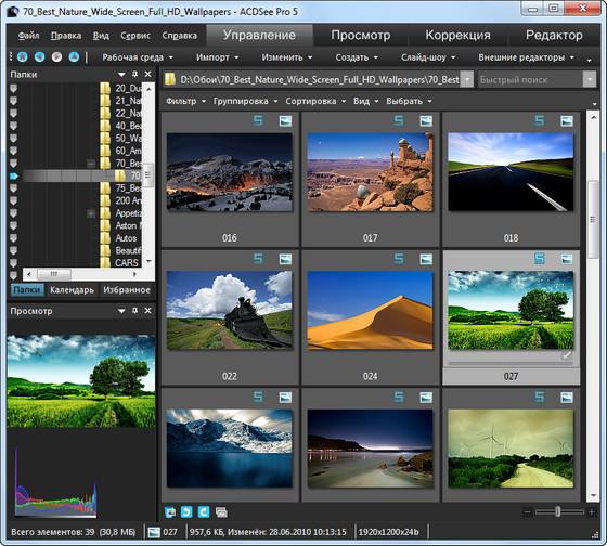 ACDSee Pro - окно программы