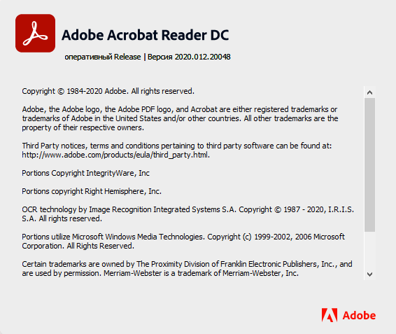 Adobe Acrobat Reader DC 2020