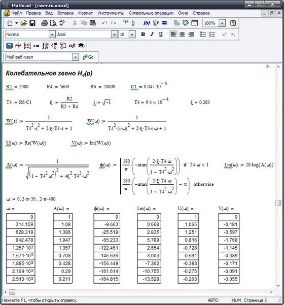 MathCad 15 (официально русский интерфейс)