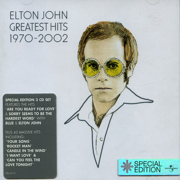 Elton John. Greatest Hits 1970-2002. 3 CD Boxset